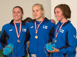 De finske piger vandt NM 2009