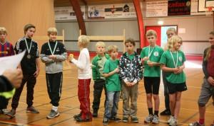 Medaljeoverrækkelse til de yngste aldersklasser