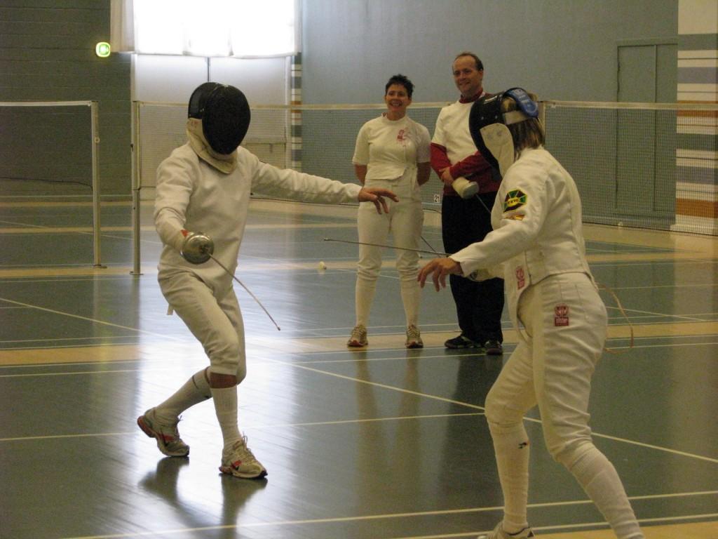 Masters EM 2009. Opvarmning inden fægtning.